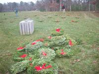 CCVI laying wreaths for Christmas