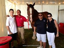 Click to view album: Budweiser Clydesdales honoring Vincent at Bourne Aug. 2014
