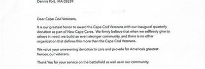 New Cape Real Estate donation and support!
