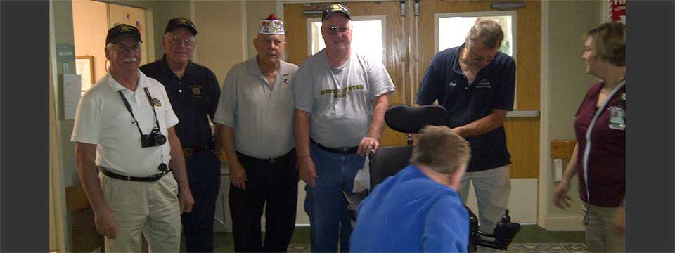 Electric Wheelchair to a Disabled Veteran in Falmouth